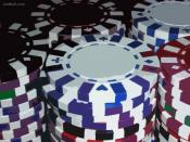 Colorful Poker Chips Wallpaper